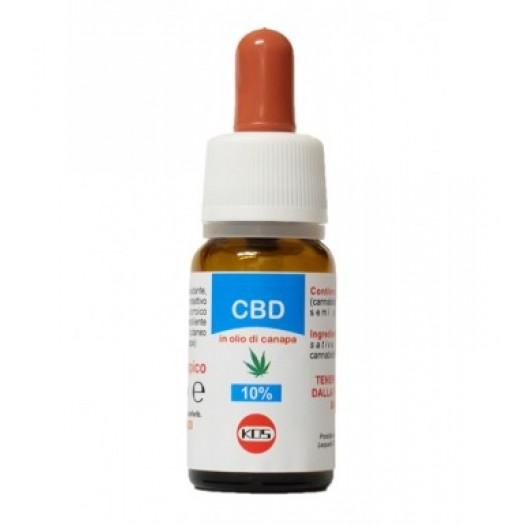 CBD cannabidiolo 10% olio di canapa 10ml - KOS