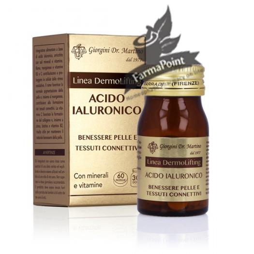 ACIDO IALURONICO 60 pastiglie Dr Giorgini