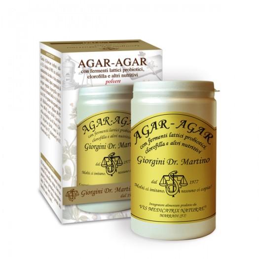 AGAR-AGAR CON FERMENTI LATTICI E CLOROFILLA 150 g polvere